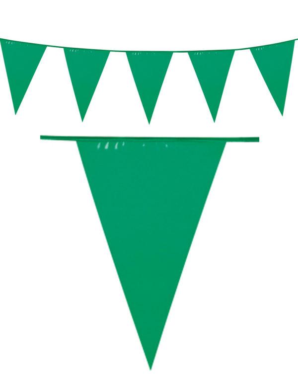 10 Meter Banner med Grønne Vimpel Flagg