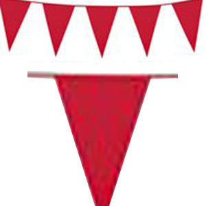 10 Meter Banner med Røde Vimpel Flagg