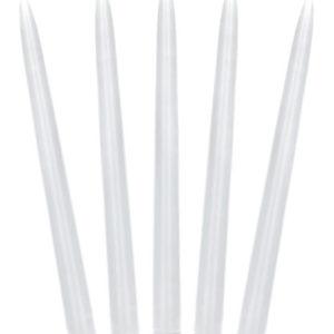 10 stk Hvite Kronelys 24 cm