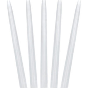 10 stk Hvite Lange Kronelys 29 cm