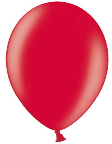 100 stk 30 cm MEGAPACK - Røde Metallic Ballonger