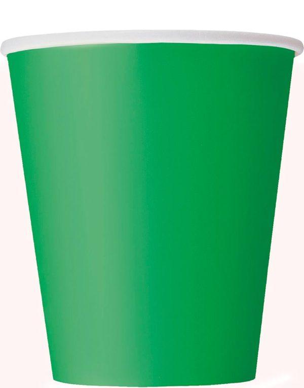 14 stk Grønne Pappkrus 270 ml