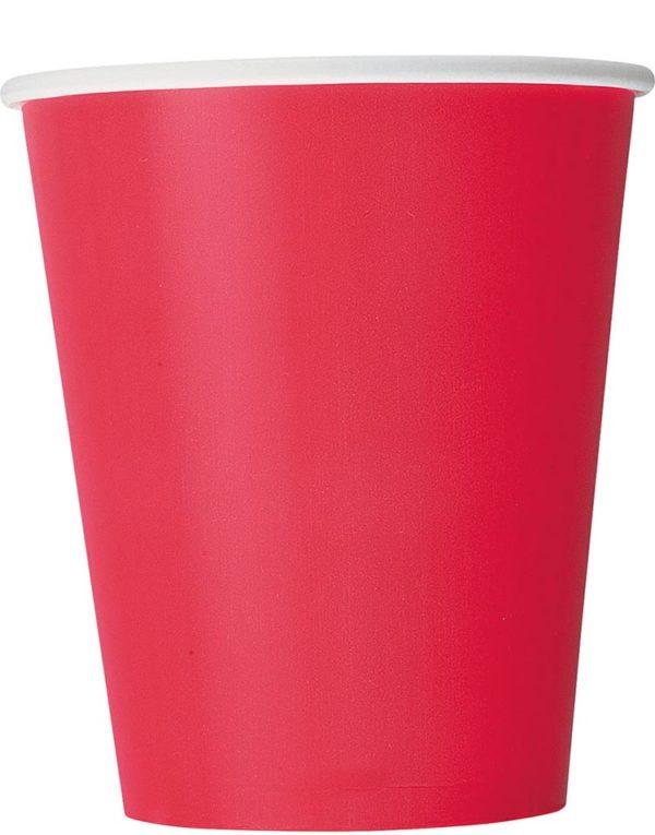 14 stk Røde Pappkrus 270 ml