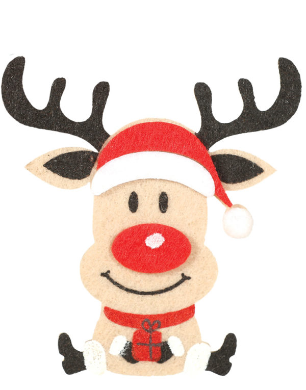 3 stk Treklyper med Rudolf 12 cm