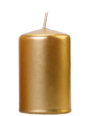 6 stk Metallisk Gullfarget Kubbelys 10x6,5 cm