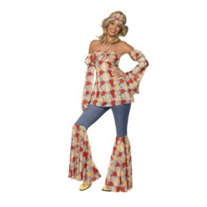 70 talls Vintage Hippie Kostyme - L