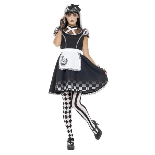 Alice In Wonderland Gotisk Kostyme - M