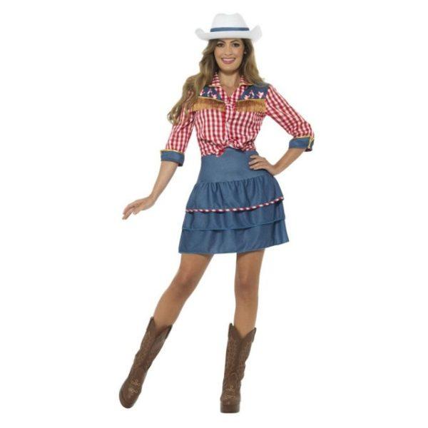 Amerikansk Rodeo Kostyme - S