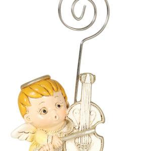 Babyengel med Fiolin - Bordkortholder