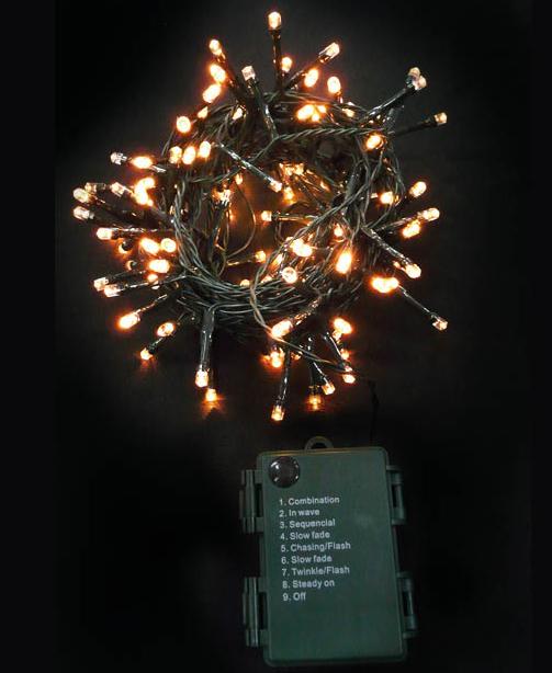 Batteridrevet Lysslynge med 96 Varmhvite LED-Lys og 8 Lyskombinasjoner - Innen- og Utendørsbruk 7,2 meter