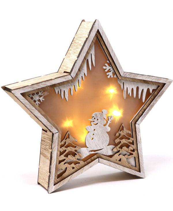 Batteridrevet Stjerneformet LED-Lampe 24 cm