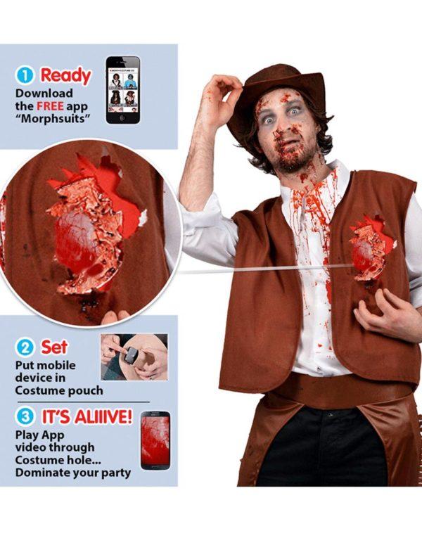 Beating Heart Cowboy - Digital Morphsuit Cowboykostyme (Med Mulighet For Animasjon)