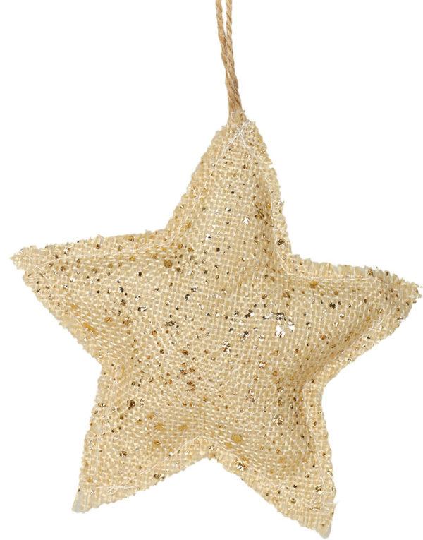 Beige og Gullfarget Juletrepynt med Stjerneform