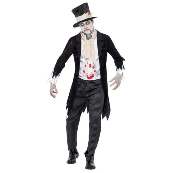 Blodig Zombie Brudgom Kostyme - L