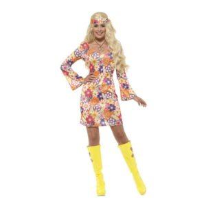 Blomster Hippie Kostyme - XL