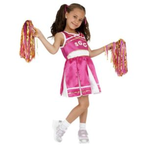 Cheerleader Barnekostyme Rosa - S
