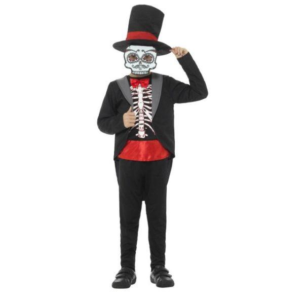 Day of the Dead Kostyme Gutt - L