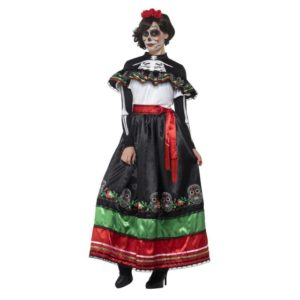 Day of the Dead Senorita Kostyme Kjole - X1