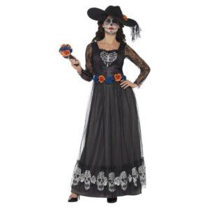 Day of the Dead Skeleton Bride Kostyme - S