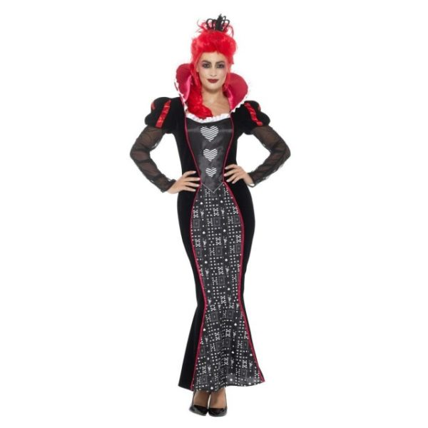 Deluxe Baroque Dark Queen Kostyme - L