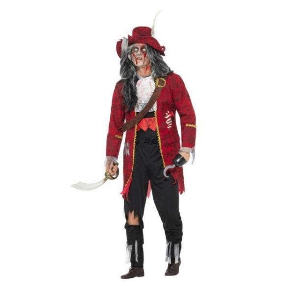 Deluxe Zombie Pirat Kaptein Kostyme - M