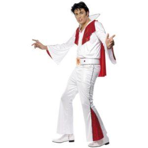 Elvis Kostyme Hvit og Rød - L