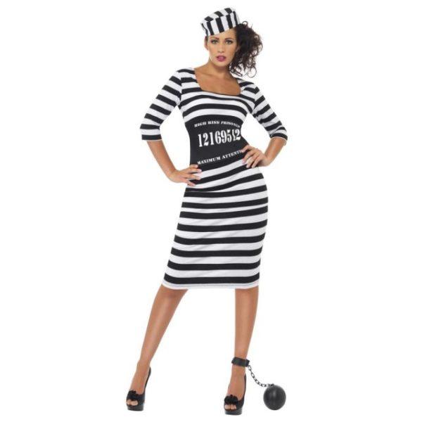 Fangedrakt Kostyme Dame -M