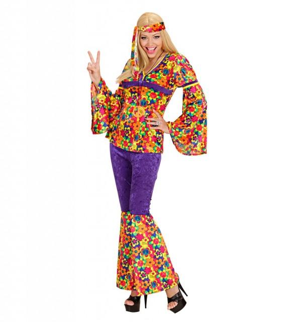 Fargerik Hippie Kostyme Dame S