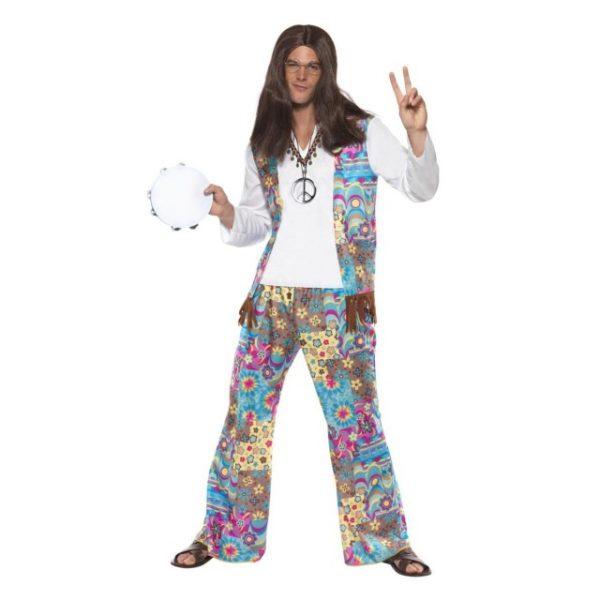 Groovy Hippie Peace Kostyme - M