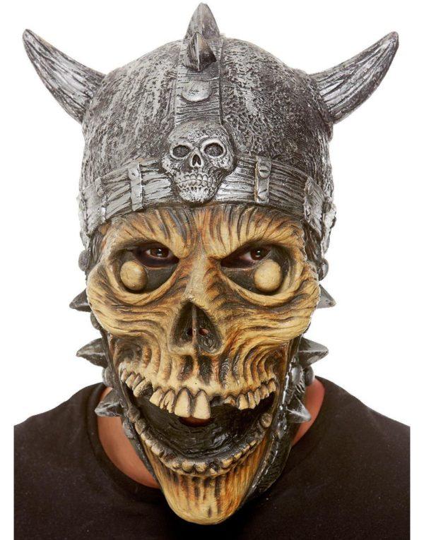 Heldekkende Skjelett Viking Latexmaske