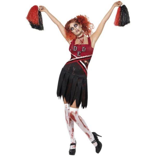 High School Horror Cheerleader Kostyme - L