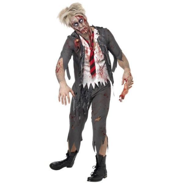 High School Horror Zombie Schoolboy Kostyme - L