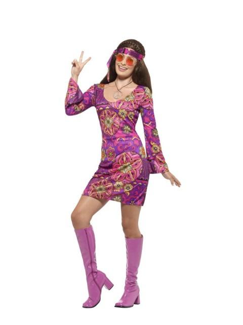 Hippie Chick Kostyme - XS