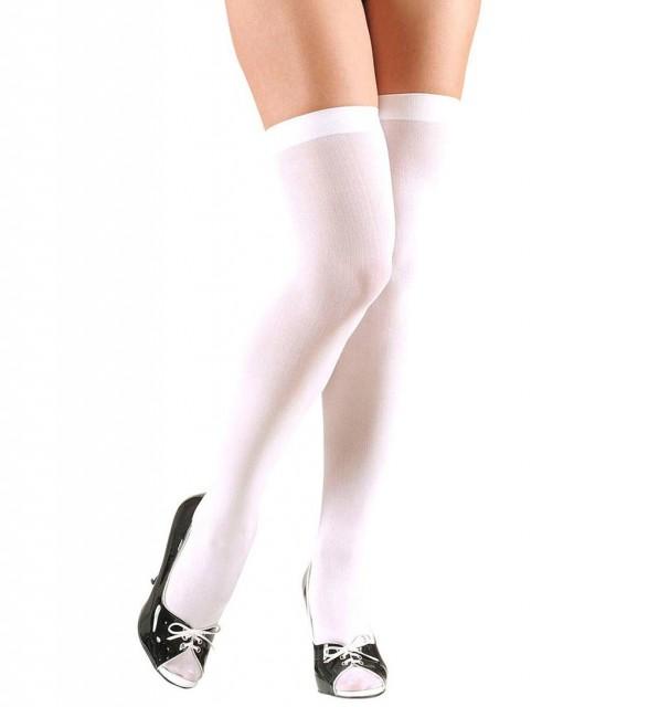 Hvite Knestrømper XL