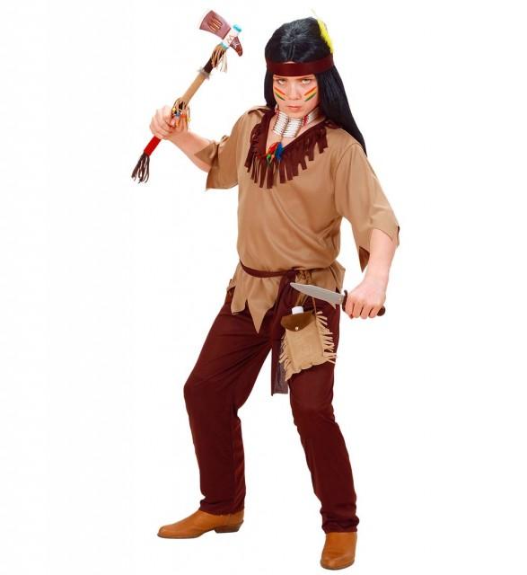 Indianer Barnekostyme Gutt 128cm