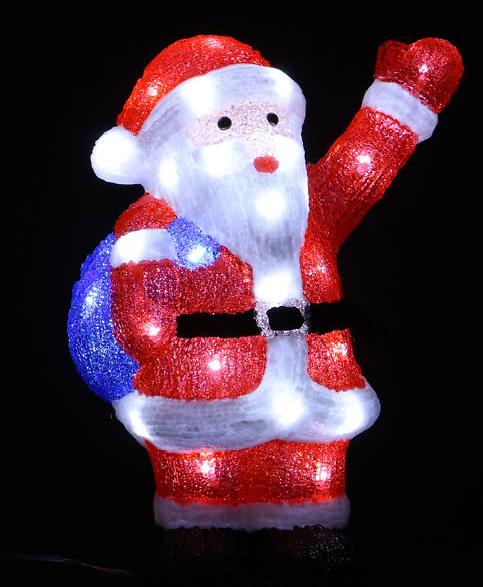 Julenisse LED-Lampe - Innen- og Utendørsbruk 38x27 cm