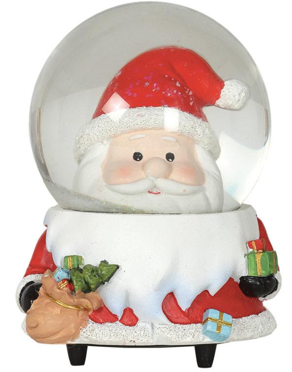 Julenisse Snøkule med Musikk og Bevegelse 15 cm
