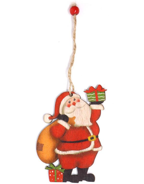Julenisse og Gavesekk - 10 cm Juletrepynt