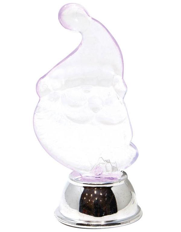 Krystallklar Nisselampe med LED-Lys 12 cm