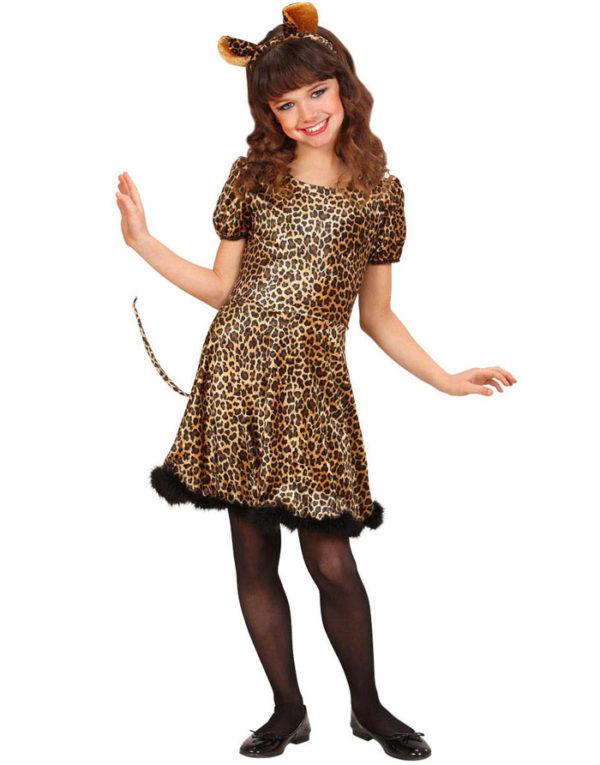 Leopardkostyme til Jente - Barnekostyme