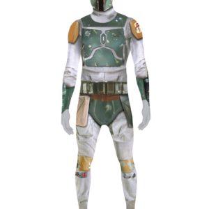 """Lisensiert Boba Fett Star Wars - Orginal Morphsuit Kostyme med """"ZAPPAR"""" Funksjon"""