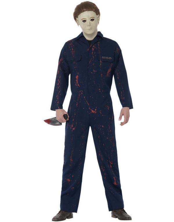 Lisensiert Halloween Michael Myers Kostyme med Maske og Kniv