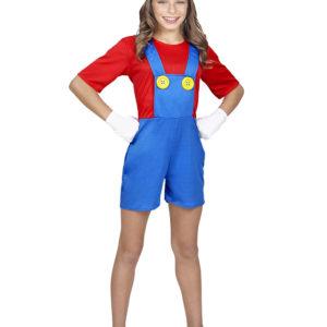 Mario Inspirert Barnekostyme til Jente