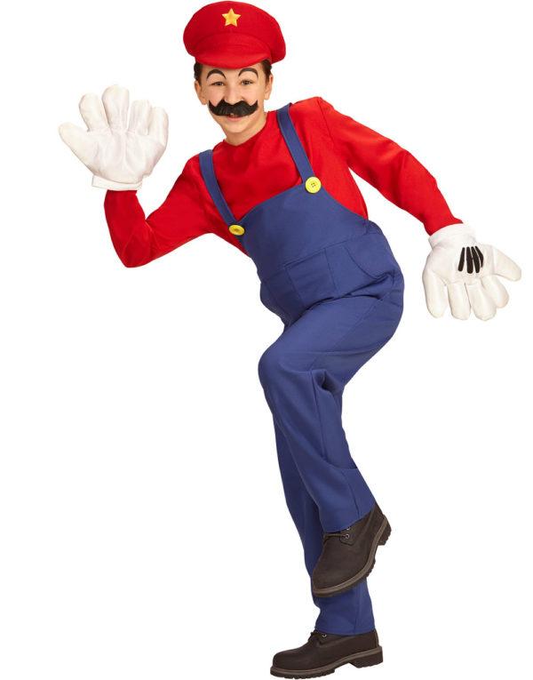 Mario Inspirert Unisex Barnekostyme