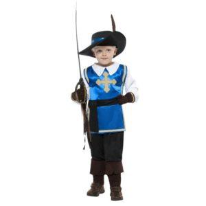 Musketer Barnekostyme Blå - L