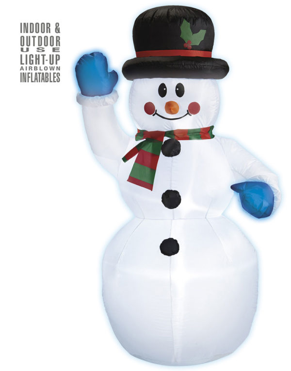 Oppblåsbar Snømannen Kalle med LED Lys 150 cm