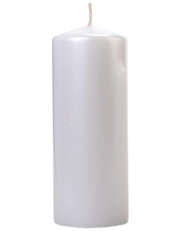 Perlehvitt Kubbelys 15x6 cm