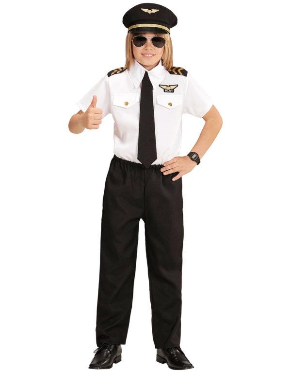 Pilotkostyme til Barn med Hatt