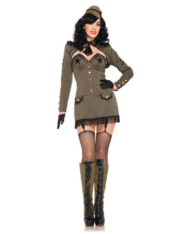 Pin Up Army Girl - Komplett Kostyme