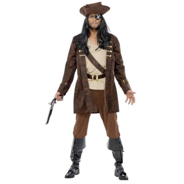 Pirat Buccaneer Kostyme - M